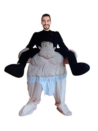 Carry me Sumo Ringer-Kostüm, F112/00 Gr. M-XL, als Huckepack-Kostüm, Männer-Kostüme Paar-Kostüme Gruppen-Kostüme, Fasching Karneval, Faschings-Kostüme, Geburtstags-Geschenk Erwachsene