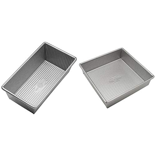 USA Pan Bakeware Aluminized Steel Loaf Pan, 1 Pound, Silver  Montana
