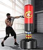 YOT Boxing Punching Ball Set con el Giro Altura de la Barra Ajustable Soporte for la absorción de Choque Fuerte Ventosa Base portátil TTI for Adultos niños (Color : Red)