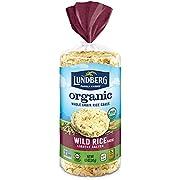 Lundberg Organic Brown Rice Cakes, Wild Rice, 8.5oz, Gluten-Free, Vegan, USDA Certified Organic, Non-GMO Verified, Kosher, Whole Grain Brown Rice
