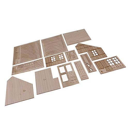 SM SunniMix Kits de Modèles Militaires Maison Bois Bricolage 1/35 Militaire Wargame Shelter Cabine Modèle Accessoires de Soldat de Seconde Guerre Mondiale