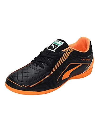 Puma Truco II Jr, Zapatillas de fútbol Sala, Black-Orange Glow, 33 EU