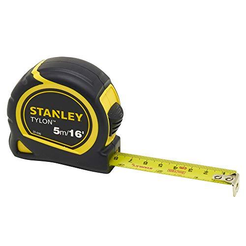 STANLEY 0-30-696 Flessometro Tylon con Doppia misurazione in Pollici e Millimetri, Design 1, nastro da 5m