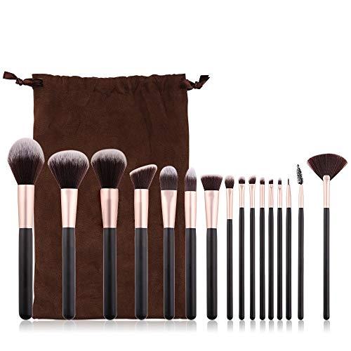L.L.QYL Brosses 16 Pcs Maquillage Pinceau Ensemble Poignée Professionnelle Fondation Mélange Blush Correcteur Oeil Visage Liquide Poudre Crème Pinceaux Kit Maquillage pour Les Femmes