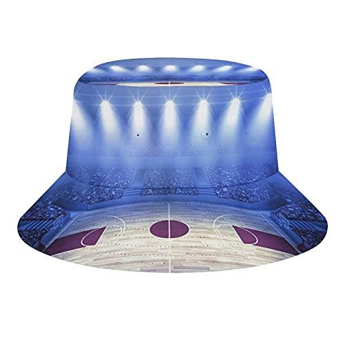 Baloncesto Multitud Baloncesto Arena Justo Antes de Juego Comienza la Escuela Torneo Tema Unisex Moda Cubo Sombrero Verano Pescador Sombrero Sol