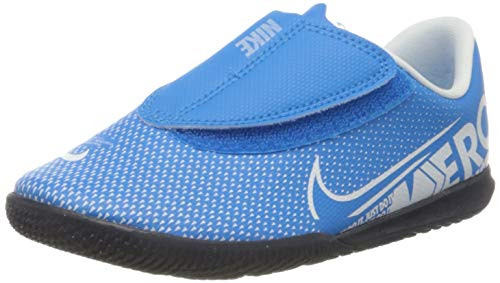 Nike Unisex-Kinder Vapor 13 Club IC PS (V) Fußballschuhe, Mehrfarbig (Blue Hero/White/Obsidian 414), 31.5 EU