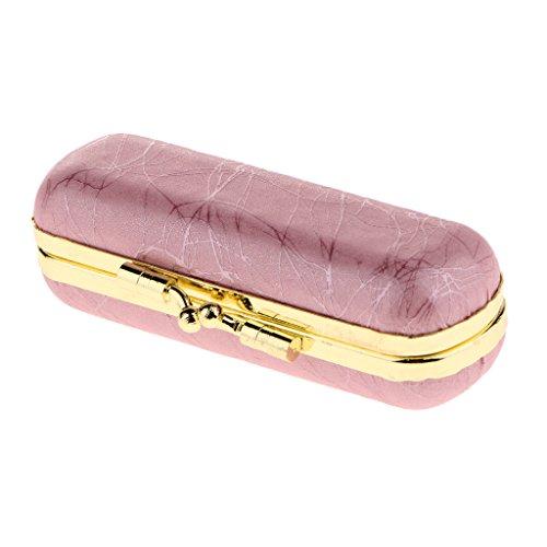 Lippenstiftetui Lippenstift Box mit Spiegel und Druckknopfverschluss, Exquisit Design, Hochwertig...