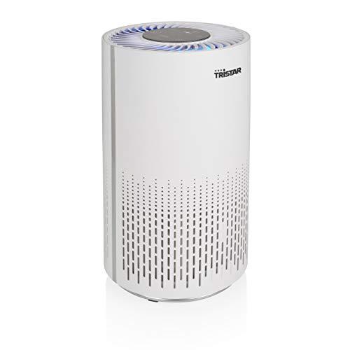 Tristar AP-4787 Purificador de aire – Reduce las molestias de la alergia y el asma - 3 filtros distintos (H13 filtro HEPA, filtro de carbono, prefiltro), hasta 25 m², 52 dB, 3 posiciones, temporizador
