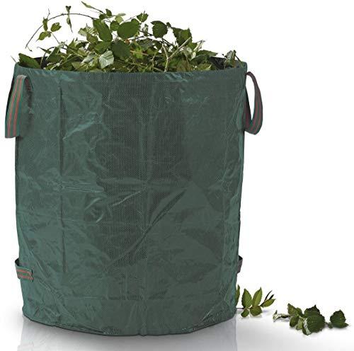 Florabest Gartenabfallsack ca 272 Liter leicht zu befüllen selbststehend durch Spannring aus besonders reißfestem beidseitig laminiertem ,wetterfestem Material