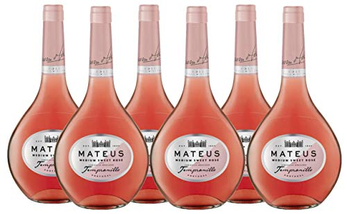 Vino Rosado Mateus Tempranillo - 6 botellas de 750 ml - Total: 4500 ml