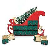 JJZXD Cuenta de Madera 24 Cuenta Regresiva Calendario de la Navidad Casa de la casa de los calendarios de Adviento con DIRIGIÓ Decoración de luz Adornos artesanales (Color : A, Size : 21.5 * 28.5cm)