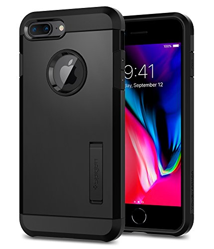 Spigen Tough Armor [2nd Generation] Designed for Apple iPhone 8 Plus Case (2017) / Designed for iPhone 7 Plus Case (2016) - Black