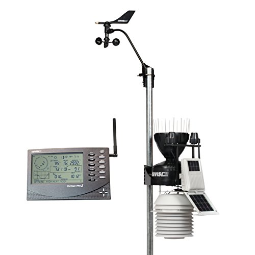 Davis Instruments 6163 Vantage Pro2 Plus Wireless Weather Station with UV Sensor, Solar Radiation Sensor and 24-hr Fan-Aspirated Radiation Shield