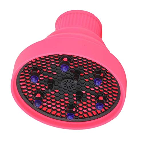 Nobranded 1 peça Blower Hairdressing Salon Curly Hair Dryer Folding Diffuser Cover - Rosa