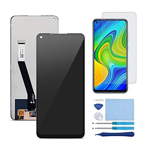 QHM Trade Pantalla LCD Táctil Asamblea Repuesto Compatible con Xiaomi Redmi Note 9 Negro con Herramientas(Negro SIN Marco)