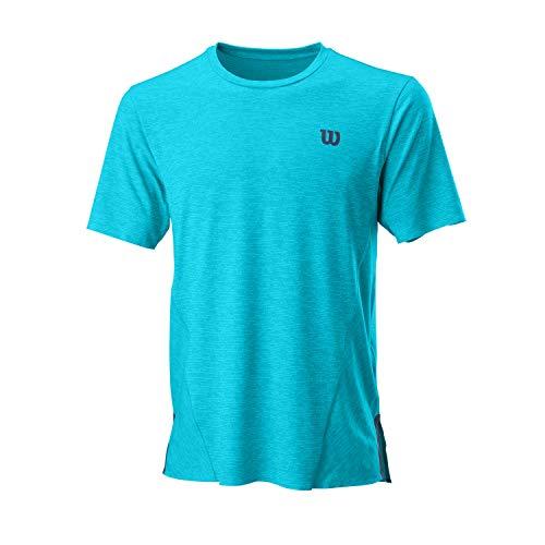 Wilson Hombre, M UL KAOS CREW, Camiseta de tenis manga corta, Poliéster/Nailon/Elastano,...