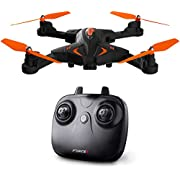 Force1 Foldable Drone with Camera Live Video with 720p HD Drone Camera Altitude Hold and 1 Key Control Quadcopter (Drone)