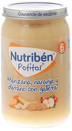 Nutribén Potitos De Manzana, Naranja, Plátano Y Galleta Desde Los 6 Meses 235 g