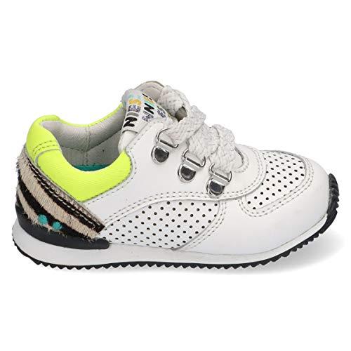 BunniesJR Rikky Ruig - Kinderschoenen Meisjes Maat 23 - Wit - Sneakers