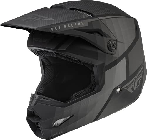 Fly Racing 2022 Kinetic Drift Helmet (Matte Black/Charcoal, X-Large)