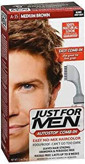 Just For Men AutoStop Formula Haircolor Medium Brown A-35, Pack of 6
