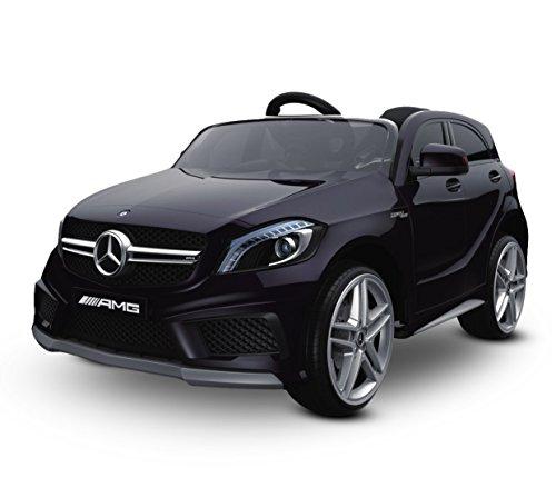 Media Wave Store - Macchina elettrica LT866 per Bambini Mercedes AMG monoposto 12V con Telecomando (Nero)