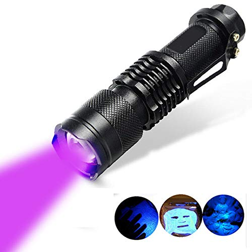 SHHOMELL UV Black Light Flashlight Torch Light Ultraviolet Lantern Light Black Light UV Hand Torch UV Lamp for Money,Bed Bugs, Scorpions UV 395nm