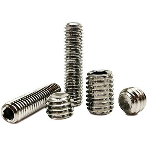 5/50pc M2 M2.5 M3 M4 M5 M6 M8 DIN916 A2 304 Stainless Steel Hex Hexagon Socket Allen Cup Point Set Screw Grub Bolt Metric Thread-50pcs M2,16mm
