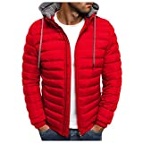 wwricotta giacca calda invernale da uomo giacche in cotone con cappuccio tinta unita cappotto taglie forti giubbotto slim fit cappotto di neve giacca mezza stagione antivento uomo