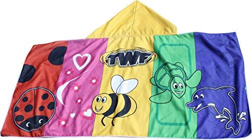 TWF Hooded Swim Towel Serviette Mixte bébé, Multicolore, Taille Unique