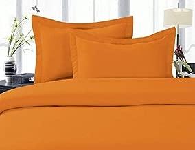 Elegant Comfort 1500 Thread Count Egyptian Quality Super Soft Wrinkle Free 3-Piece Duvet Cover Set Great Deal, King/California King, Elite Orange