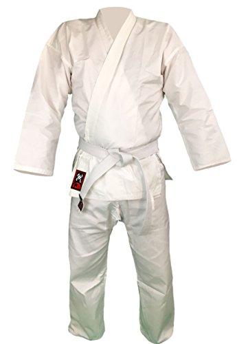 Budodrake Karateanzug Bushido weiß 8oz Karate Gi (160)