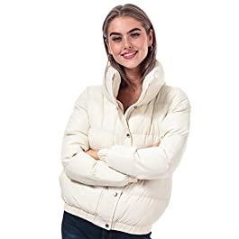 BRAVE SOUL Womens Womens Slay Padded Funnel Neck Jacket in Off White – 16