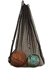 DoGeek Mesh boll väska, hållbar mesh dragsko gym sport utrustning väska stor nätväska ...