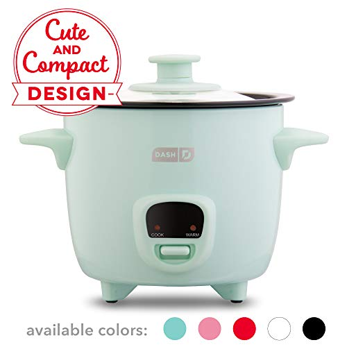 Dash DRCM200GBAQ04 Mini Rice Cooker Steamer with Removable Nonstick Pot, Keep Warm Function & Recipe...