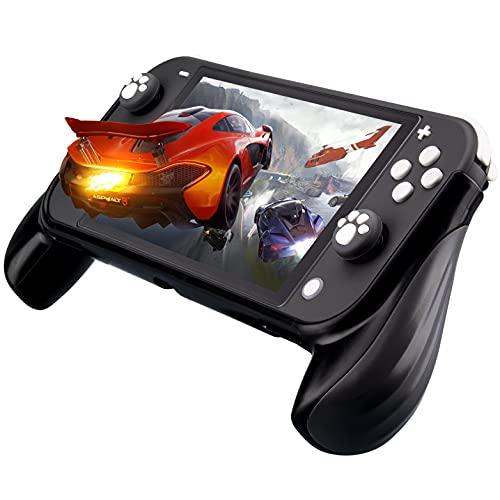Lammcou Supporto per Impugnatura per Nintendo Switch Lite 2019, impugnature Switch Lite e Tappi per Joystick Design Artiglio di Gatto per Nintendo Switch Lite Grip Supporto - Grigio