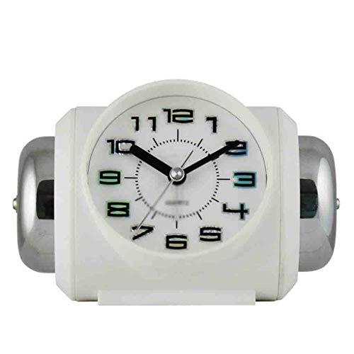 HEKRW Reloj Alarma Digital Suave de Despertador Experiencia, fácil de Usar y fácil de Usar Conveniente for el hogar Oficina Dormitorio (Color : White)