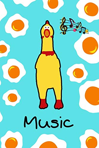 Music: Guitar tab sheet Notebook / Logbook for crazy Rubberchicken lovers - 6x9 inches (~DIN 5), 100 Pages