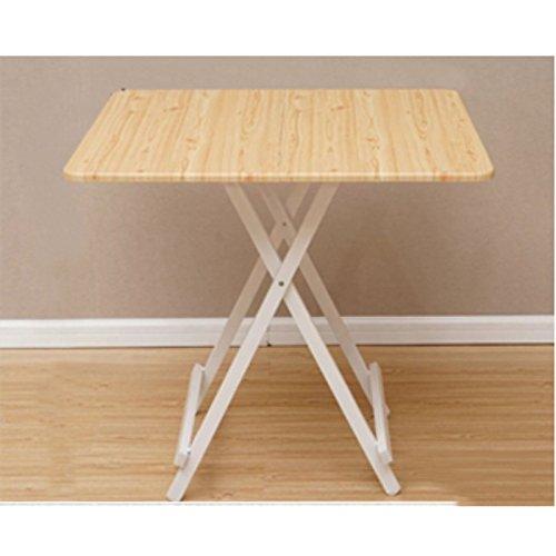 Mesa plegable port¨¢til para El hogar, mesa moderna mini - pl¨¢stica, mesa de computadora cuadrada multicolor elegante, mesa peque?a (60 x 60 x 55 cm) (b)