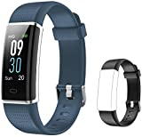 Willful Fitness Tracker, Herzfrequenzmesser Fitness-Uhr Activity Tracker (14 Modi) Pedometer S_grau + schwarz Band