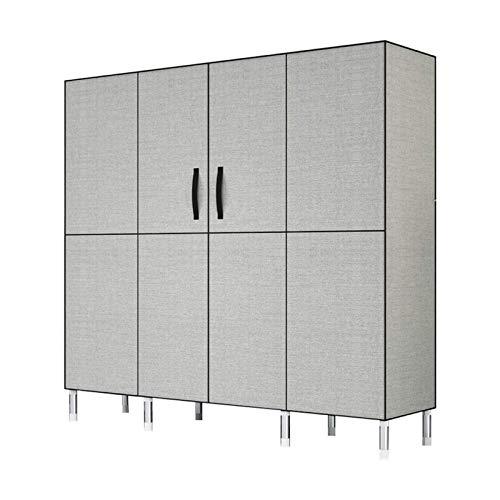 LLCY Armario de tela Armario de tela para ropa de cama de dormitorio, gabinete de almacenamiento de armario de armario de armario de combinación multifunción portátil, robusto duradero Organizador rop