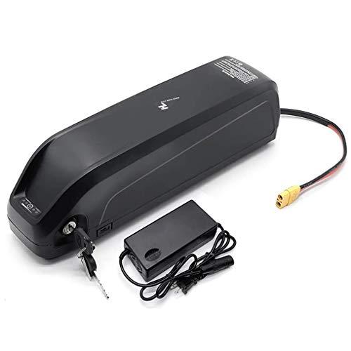 CHRYS Batería de ion de litio con USB 48 V13 Ah 48 V 17 Ah para bicicleta eléctrica de tubo inferior con cargador para batería de bicicleta de montaña, montado en tubos inferiores