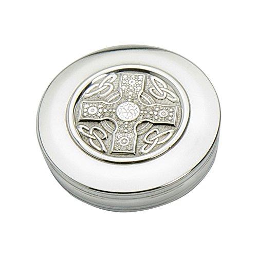 Edwin Blyde Celtic Cross Design Trinket Box, 90 mm x 25 mm, 10 x 10 x 3.5 cm, Pewter