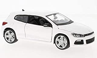 Bianco VW Scirocco III R Modello Finito Modellino Auto Bburago 1:24