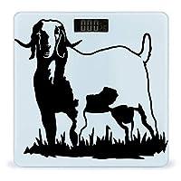 コロラドボーアヤギの旗 LCDディスプレイ付き高精度スマートフィットネススケール体重デジタルバスルームボディスケール