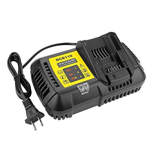 Powilling 10.8V 14.4V 20V Fast Battery Charger DCB118 4.5A For Dewalt Lithium Battery DCB205 DCB206 DCB203BT DCB204BT DCB127 Replace DCB101 DCB102 DCB112 DCB115