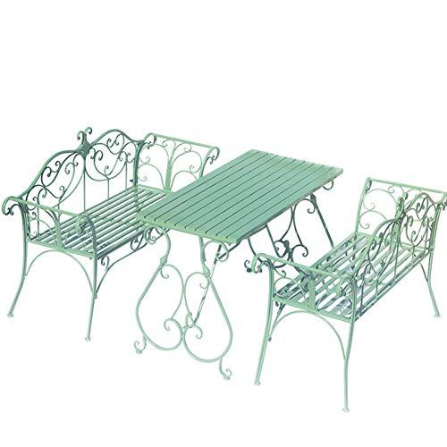 Stuhl Europäischen Eisenstuhl Doppelstuhl Außenbalkon Rest Bank modernen minimalistischen Rückenlehnenstuhl-green