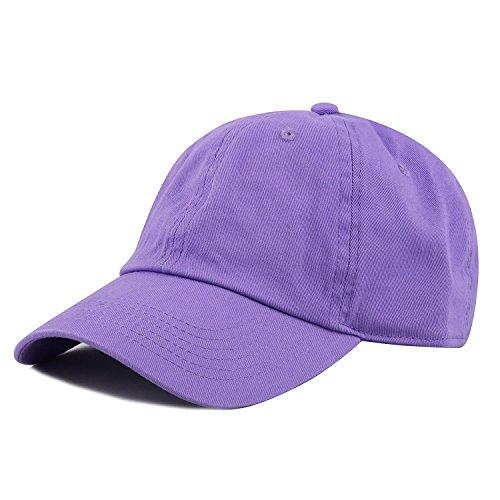 Gelante Baseball Caps Dad Hats 100% Cotton Polo Style Plain Blank Adjustable Size. 1827-Lavender
