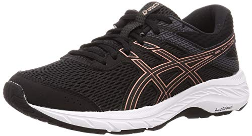 ASICS Damen Gel-Contend 6 Running Shoe, black/rose gold, 37 EU