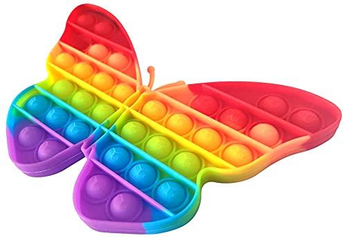 NF ROADTOLOVE Fidget Toy Juguete Antiestres - Pop It Sensorial Mariposa para Niños y Adultos - Bubble Push Pop it Butterfly - Juguetes Antiestrés de Explotar Burbujas para Aliviar estrés y Ansiedad